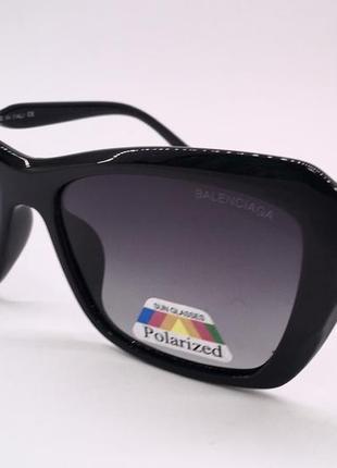 Balenciaga очки женские солнцезащитные  с черными линзами поляризация
