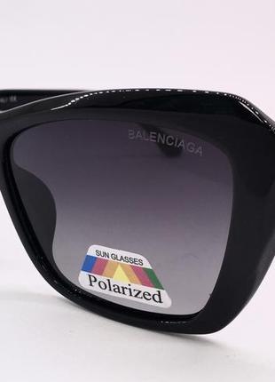 Balenciaga очки женские солнцезащитные  с черными линзами поляризация2 фото
