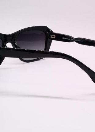 Balenciaga очки женские солнцезащитные  с черными линзами поляризация3 фото