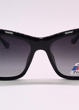 Balenciaga очки женские солнцезащитные  с черными линзами поляризация7 фото