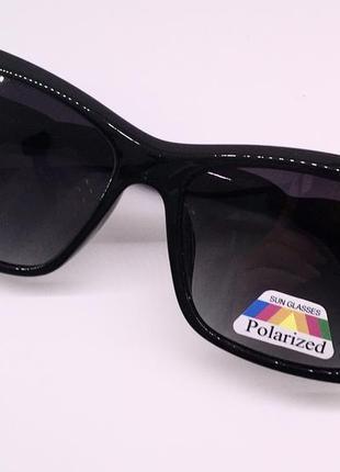 Balenciaga очки женские солнцезащитные  с черными линзами поляризация8 фото