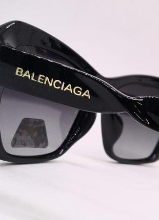 Balenciaga очки женские солнцезащитные  с черными линзами поляризация4 фото