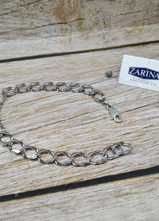 Мужской браслет серебро 925, серебряный браслет крупная цепь