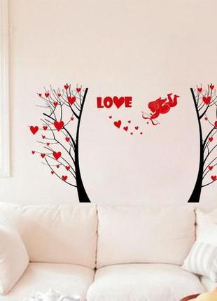 Декоративная интерьерная наклейка-стикер на стену день влюбленных