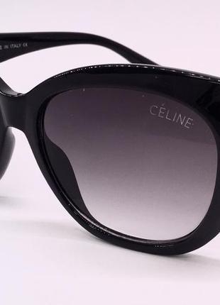 Celine очки женские солнцезащитные черные бабочки