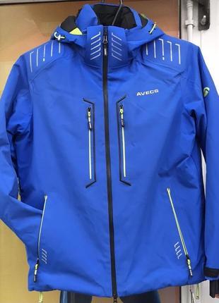 Мужская лыжная куртка avecs синяя электрик размер м