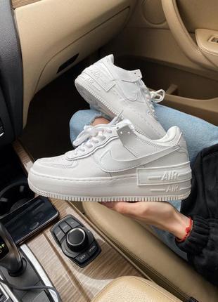 Женские кроссовки nike air force shadow white