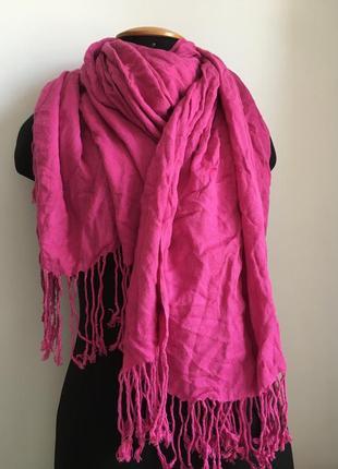 Великий яскравий шарф хустка палантин terranova