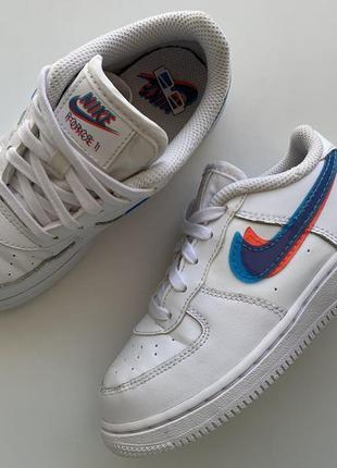 Ультрамодные кожаные кроссовки nike air force 1 🔥🔥🔥 👟 размер 27  (17, 5 см) оригинал ❗❗❗