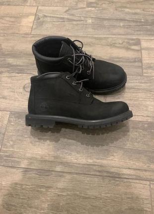Чёрные ботинки timberland