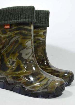 Гумові чоботи demar .stormer lux print, хакі
