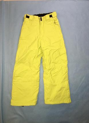 Яркие лимонные лыжные штаны
