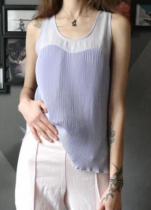 Лавандовая плиссированная блуза tally weijl