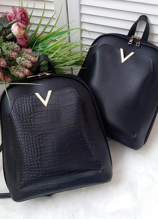 Шикарная сумка - рюкзак из эко кожи