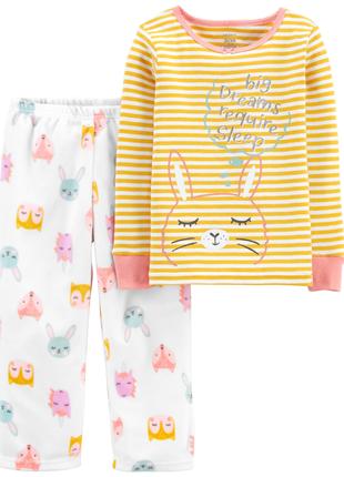 Пижама carter's  для девочки bunny fleece pjs