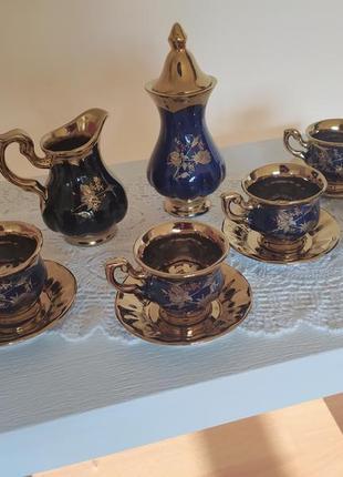 Кофейный сервиз, сервіз кавовий, для кофе, для кави, 6 персон, винтаж