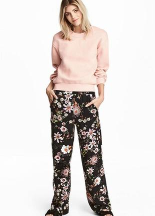 Оригинальные широкие брюки от бренда h&m разм. 36