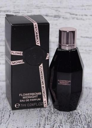 Viktor & rolf flowerbomb midnight миниатюрка парфюма 7мл оригинал