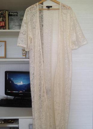 Накидка кружевная кимоно халат atmosphere размер м