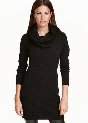 Оригинальное платье-свитер от бренда h&m разм. м