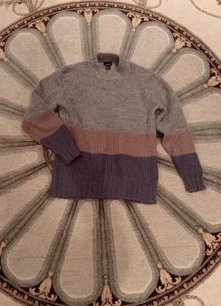 Теплый мохеровый свитер h&m oversize