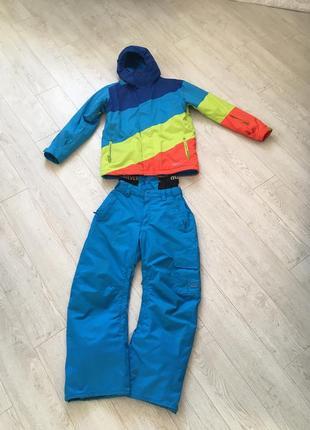 Оригинальный лыжный костюм quicksilver s размер лыжная куртка штаны