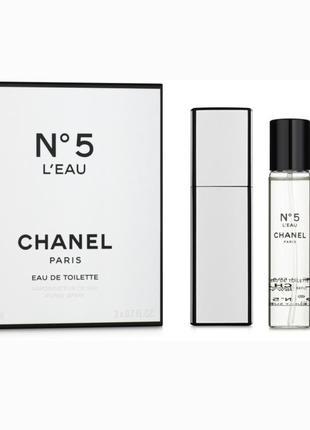 Chanel n5 l'eau туалетна вода (2х30ml) (змінний блок) ,торг,элитный парфюм , духи