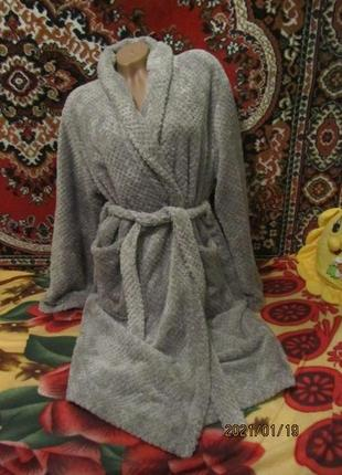Теплый, мягкий  махровый халат унисекс