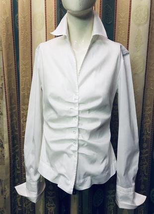 Эксклюзивная стильная рубашка немецкого бренда премиум класса rene lezard