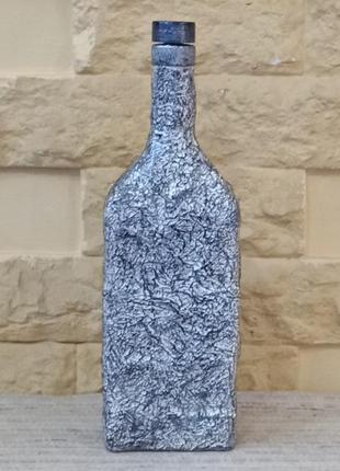 Бутылка для напитков с декором. ручная работа.