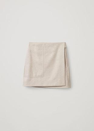 Шерстяная юбка cos arket sezane