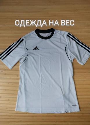 Adidas белая спортивная тренировочная футболка - s