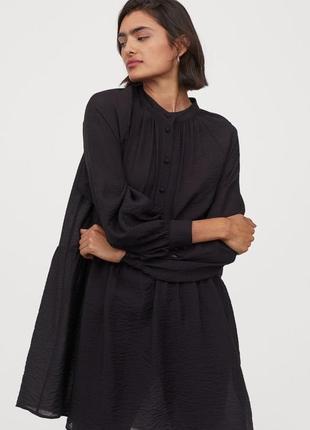 Чёрное платье рубашка h&m