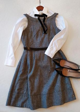 Платье. с пышной юбкой. классический серый меланж