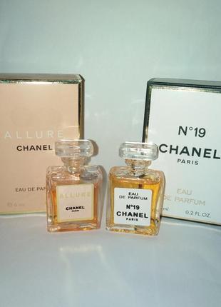 Миниатюры винтажные chanel allure, chanel 19