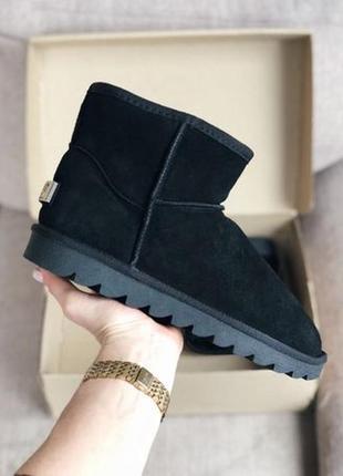 Низкие замшевые угги ботинки унты