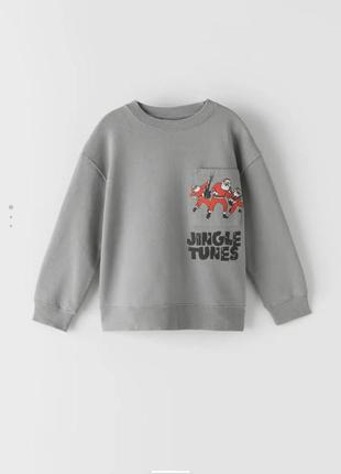 Серые свитшот , кофта для мальчиков утепленная. zara  128, 140, 152