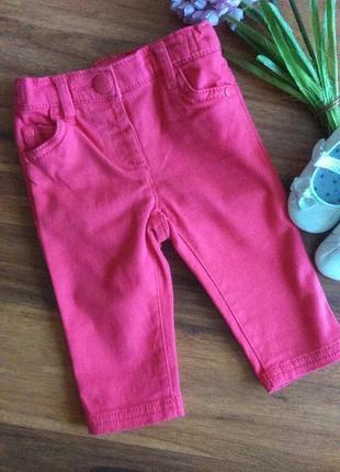 Модные коралловые джинсы для малышки next на 3-6 месяцев