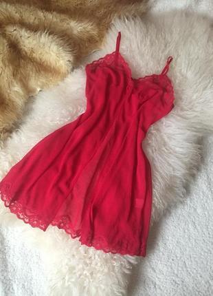 Красный пеньюар, накидка, lingerie, 2021, ночная сорочка