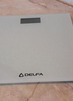 Напольные весы delfa dbs-7218 shine white, батарейка