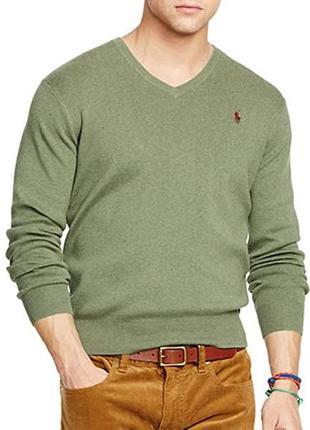 Шикарный оригинальный шерстяной свитер polo ralph lauren