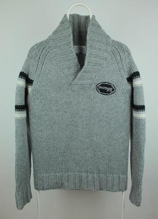 Шикарный оригинальный шерстяной свитер levis vintage knitted sweater