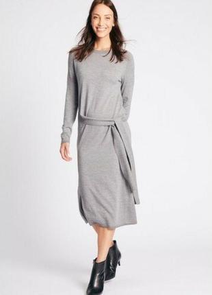 Шерстяное платье m&s р. uk 22-на170/118а