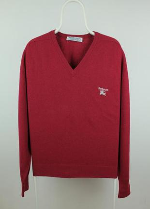 Шикарный шерстяной свитер burberrys vintage wool sweater