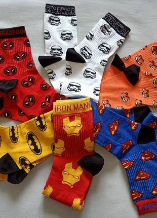 Мужские носки с принтамы/ високі шкарпетки з принтами/надписами/приколами