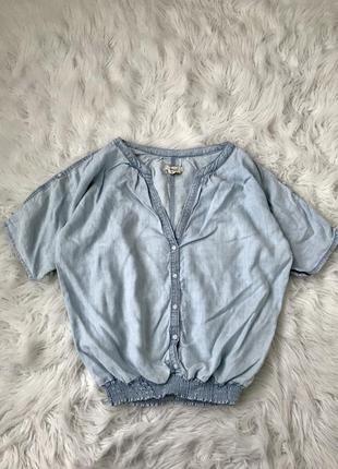 Стильный легкий топ под джинсы мом s/m/l h&m швеция 🇸🇪 оригинал