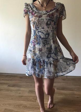 Легкое коротенькое платье s - m