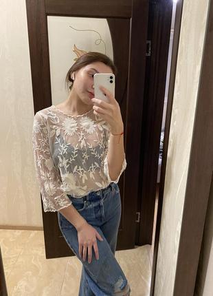 Сетка блуза