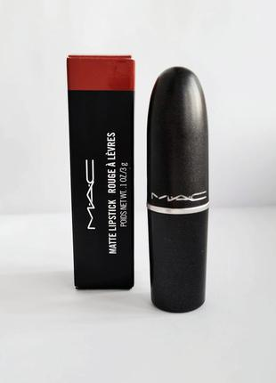 Матовая стойкая помада mac matte lipstick