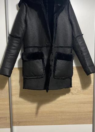 Стильная, модная дублёнка, пальто, куртка zara